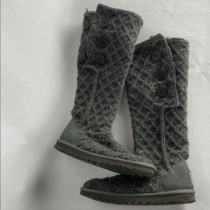 Grey Ugg boots Lattice Cardy size 9